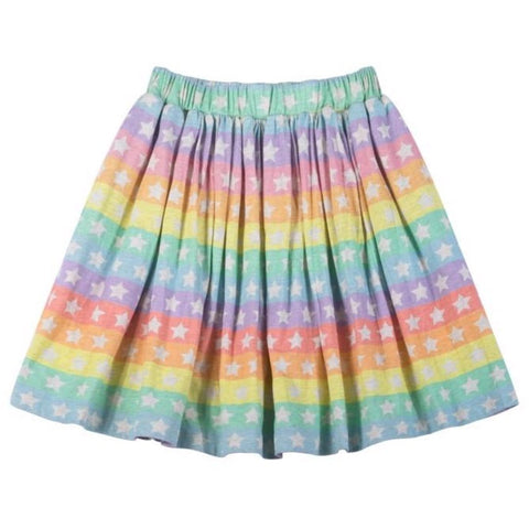 Paper Wings Organic Rainbow Stars Girls Skirt