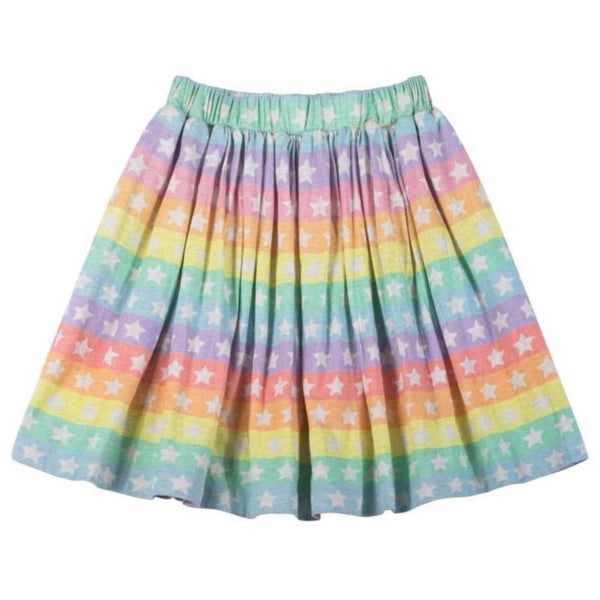 Paper wings rainbow stars girls skirt