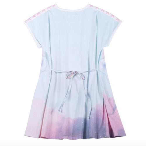 Paper wings unicorn cloud short sleeve girls jersey dress