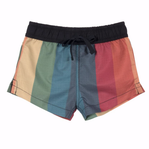 Baby boy rainbow stripe board shorts