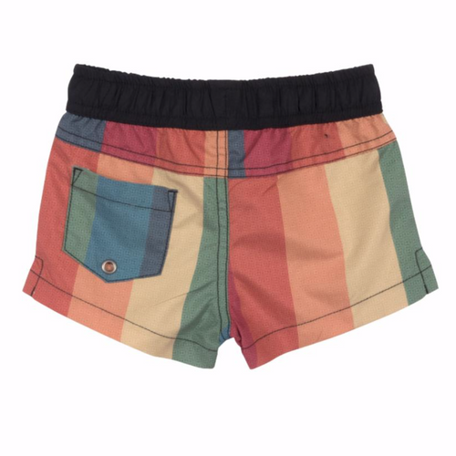 Rainbow stripe board shorts for baby boy