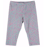 Girls blue and pink flower dot leggings