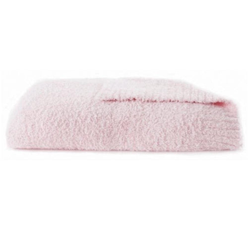 Pink fleece baby blanket