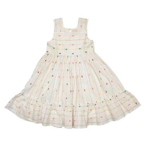 Rainbow embroidered girls sundress | Pink Chicken