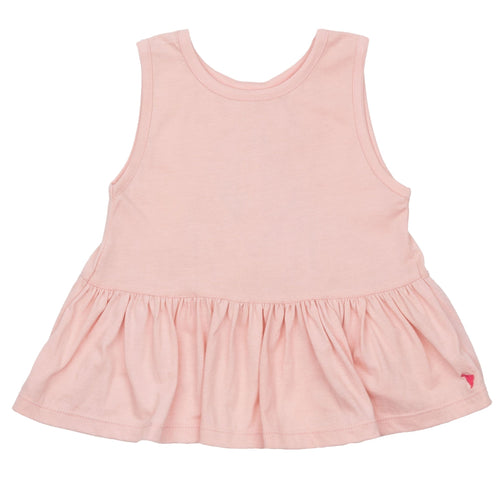 Pink chicken light pink sleeveless girls top