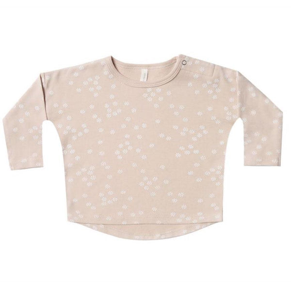 Quincy Mae pink floral long sleeve baby girl tee
