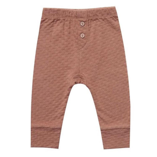 Quincy Mae rust pointelle organic unisex baby pants