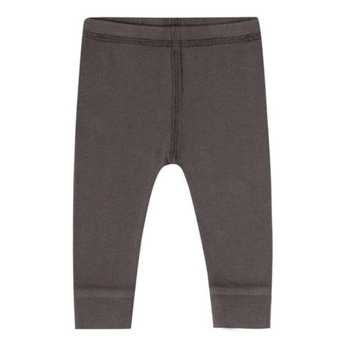 Quincy Mae grey brown ribbed organic baby boy leggings