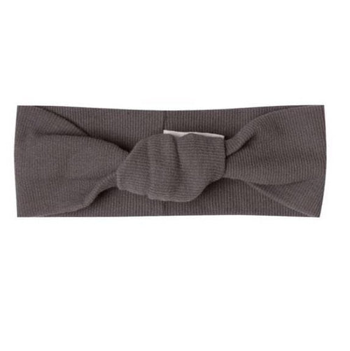 Quincy Mae coal turban baby headband