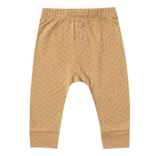 Quincy Mae honey pointelle baby leggings