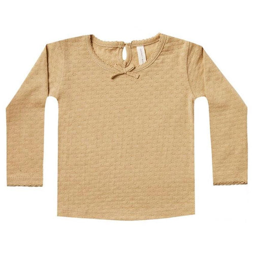 Quincy mae honey pointelle baby tee