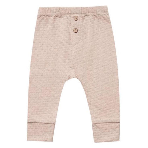 Quincy Mae rose pointelle baby leggings