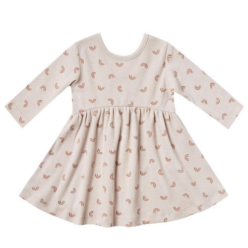 Quincy mae rainbow print baby girl dress