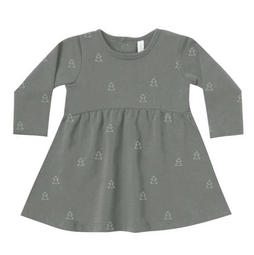 Quincy Mae green Christmas baby girl organic dress