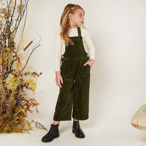 Rylee and Cru Forest Cord Overalls
