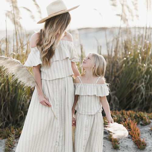 Rylee and Cru Tween & Women's Ivory Stripe Skirt - Little Skye Children's Boutique