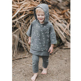 Short sleeve grey hoodie with angel fish print for kids