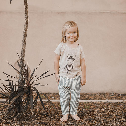 Striped trousers by Rylee and Cru on boy model