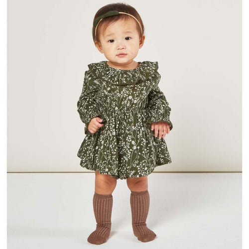 Rylee and Cru Vines Ruffle Collar Baby Dress