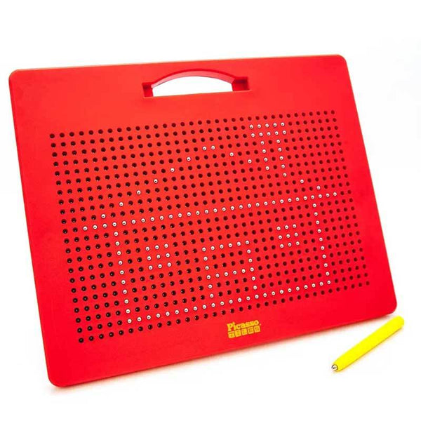 Red kids magnetic drawing board