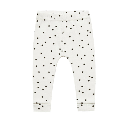 Baby pointelle ivory organic knit leggings