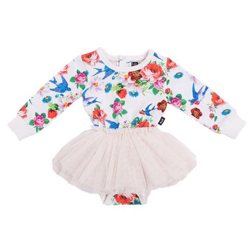 Rock your baby bird print baby girl tutu dress