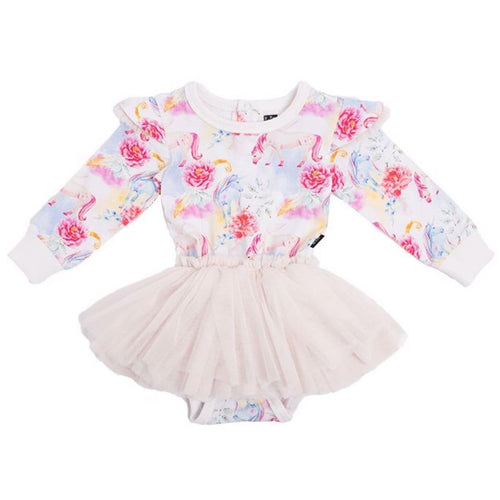 Rock your baby unicorn print baby girl tutu dress
