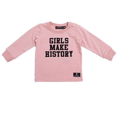 Rock your baby pink long sleeve baby girl graphic tee