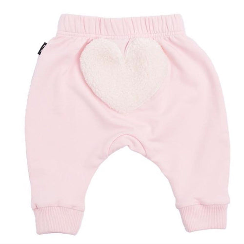 Rock your baby pink heart baby girl pants