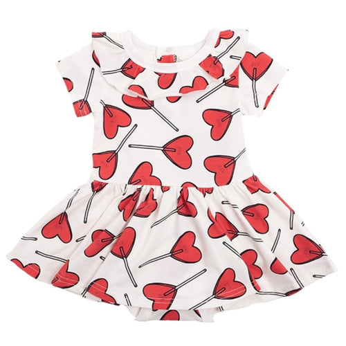 Heart Baby Girls Dress Rock Your Baby