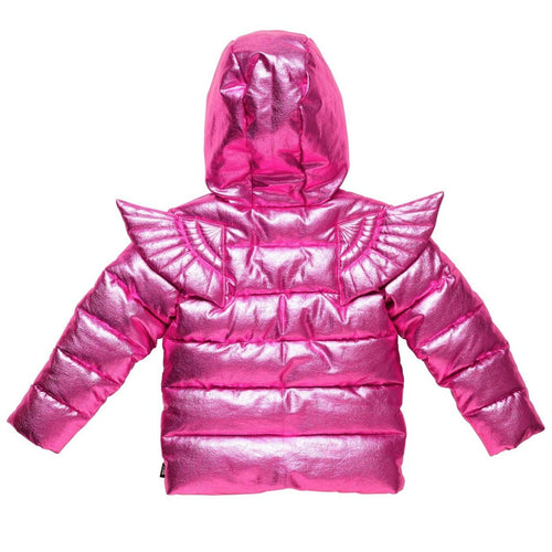 Rock your kid metallic pink girls puffer jacket