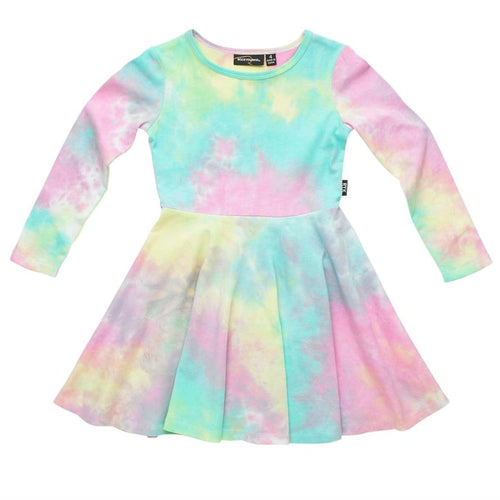 Rock your kid pastel tie dye girls twirl dress