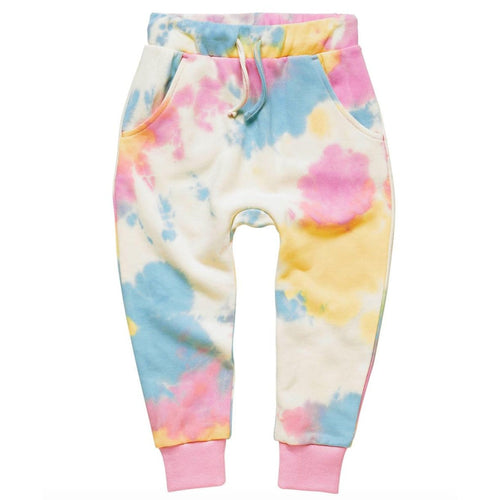 Rock your kid pastel tie dye girls jogger pants