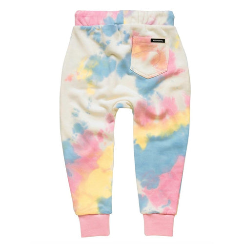 Rock your kid pastel tie dye girls jogger sweatpants