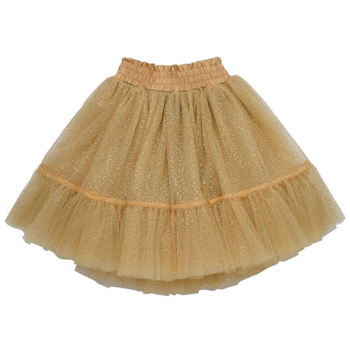 Rock your kid gold glitter girls tulle skirt