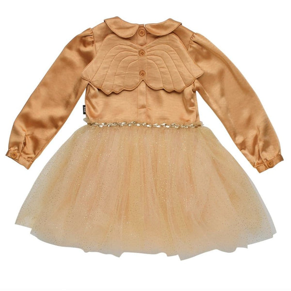 Rock your kid gold collared girls tulle dress