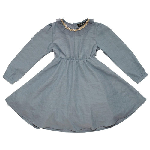 Rock your kid grey long sleeve girls dress with angel wings