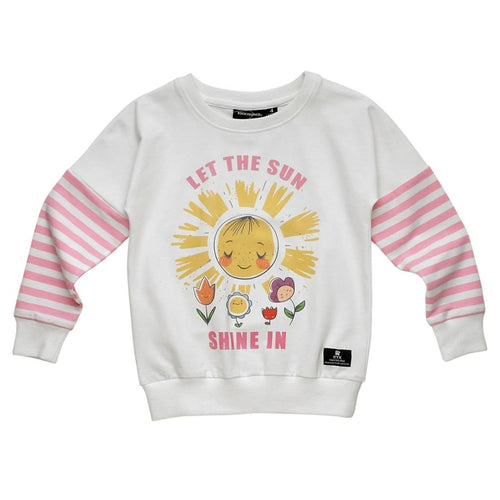 Rock your kid long sleeve sunshine girls graphic tee