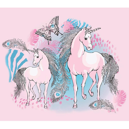 Rock your kid pink long sleeve unicorn girls shirt