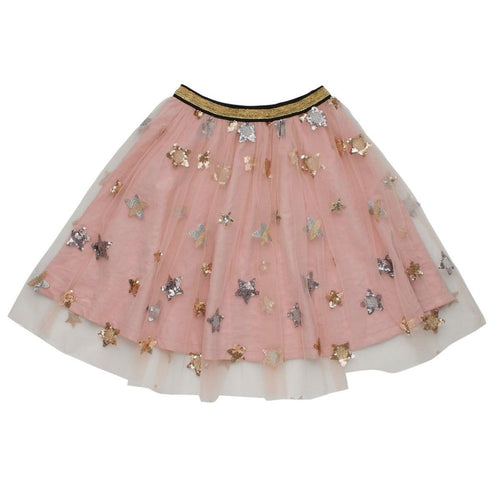 Rock your kid pink star glitter tulle girls skirt