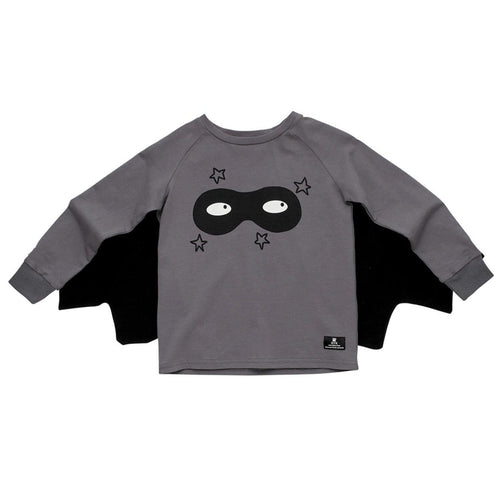 Rock your kid long sleeve superhero boys tee with cape