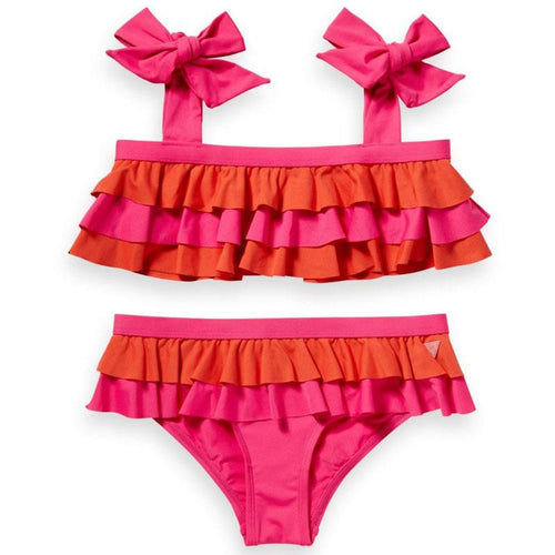 Scotch R'Belle Pink & Red Ruffle Girls Bikini