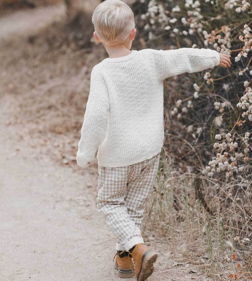 Rylee Cru ivory boys sweater