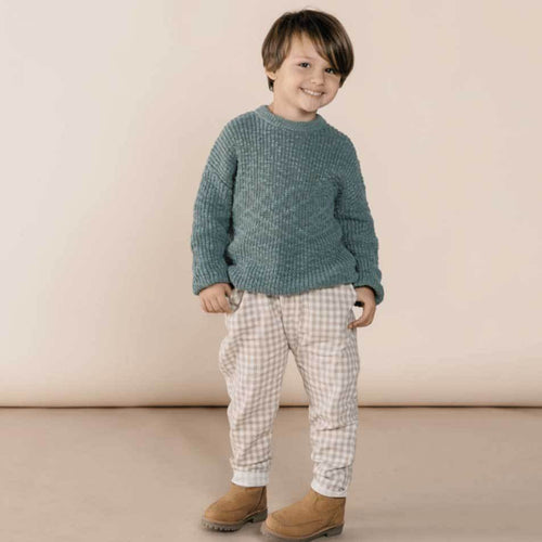 Rylee Cru dusty blue knit boys sweater