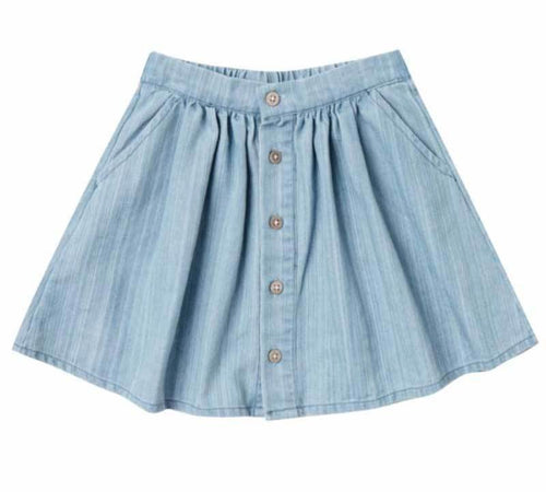 Rylee and Cru Washed Denim Skirt