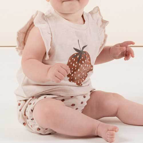 Rylee and Cru baby girl strawberry tank top and bloomers