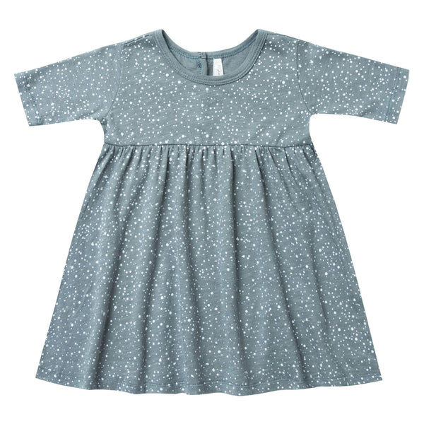 Rylee and cru blue knit girls dress