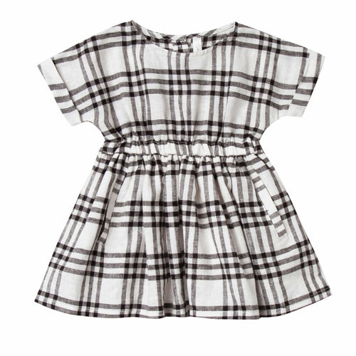 Rylee and Cru Check Plaid Girls Dress Kat Girls Dress in Ivory
