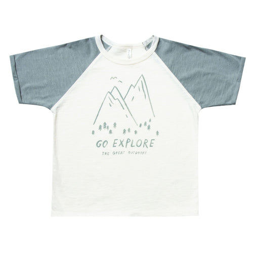 Rylee and cru mountain print boys graphic t-shirt