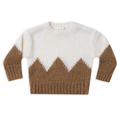 Rylee and cru ivory and caramel kids winter sweater